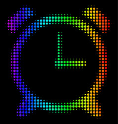 spectrum pixel alarm clock icon vector image