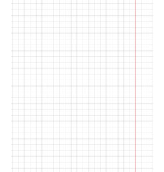 standart notebook sheet vertical cage 7 millimeter vector image