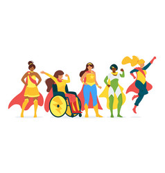 superwomen flat collection vector image