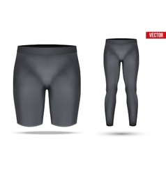 Thermal underwear layer compression pants and vector image