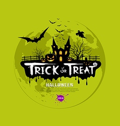 Trick or treat halloween design vector