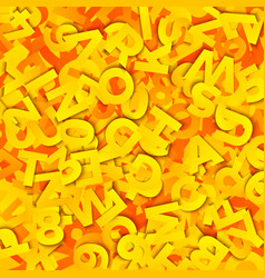 type background with paper letters heap vector image
