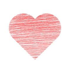 Valentine Day Hand Drawn Heart vector image