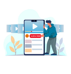 video subscribe for video blogging vector image