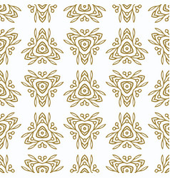vintage seamless pattern with gold ethnic vector image