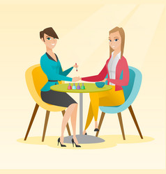 woman receiving manicure in nail salon vector image