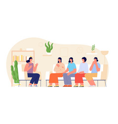 women group therapy woman support female talking vector image