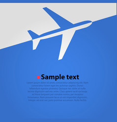 airplane flight blue background vector image