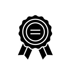 award icon black sign on vector image vector image