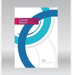 Cover Report Annual vector image