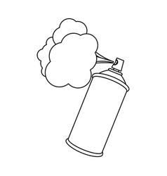 figure aerosol sprays with cloud icon vector image