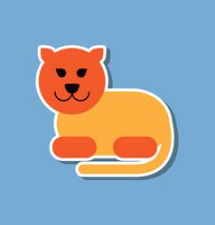 Paper sticker on stylish background cartoon vector