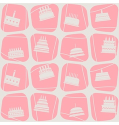 Seamless background with birthday cake vector image vector image