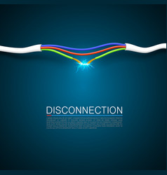 cable break disconnect vector image