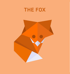 fox origami of flat polygons vector image