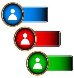 Login icons set vector image