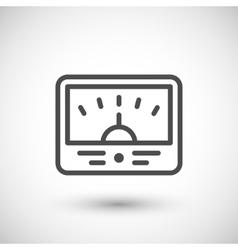 Meter line icon vector image vector image