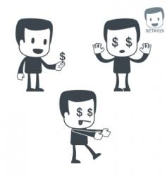 money icon man set vector image