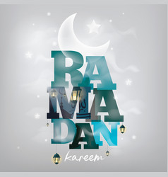 Ramadan kareem greeting card design vector
