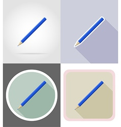 stationery flat icons 03 vector image vector image