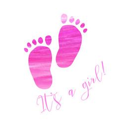 Baby gender reveal footprints vector