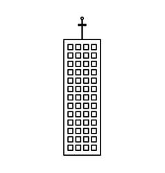 building architecture modern skyscraper outline vector image