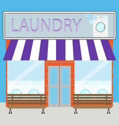Building laundry flat design vector image vector image