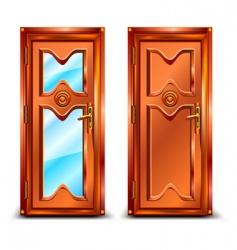 door closed vector image