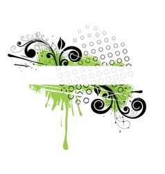 green floral banner vector image vector image
