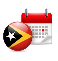 Icon of national day in east timor vector image vector image