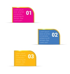 infographic set with golden frame in colorful vector image vector image