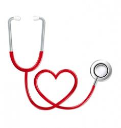 Stethoscope in shape of heart vector