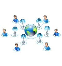world connectivity vector image