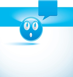 blue background with smiley vector image