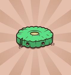 Cartoon cute cookie vector image