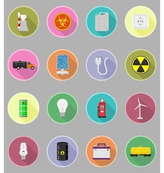 power and energy flat icons 19 vector image vector image