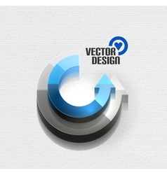 3d glossy arrow circle hi-tech concept vector