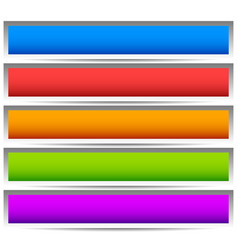 5 colorful button banner backgrounds - set of vector image