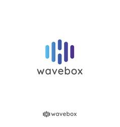 Abstract audio signal wave pulse logo vector