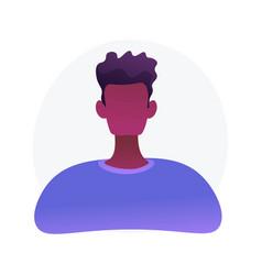 African american man portrait concept vector