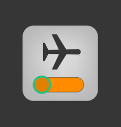 Airplane mode icon vector