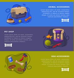 animal accessories pet shop landing page vector image