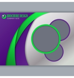 Background concept for horizontal brochure vector image