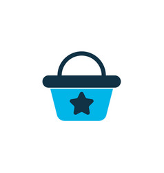 beach bag icon colored symbol premium quality vector image