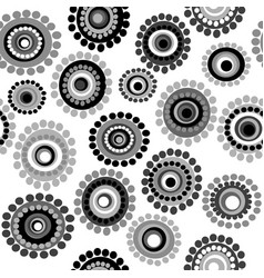 black and white doodle floral background vector image