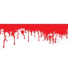 blood splat dribble vector image