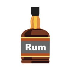 Bottle with rum vector