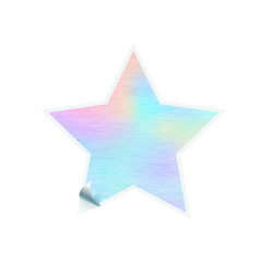 bright trendy sticker in star shape with hologram vector image