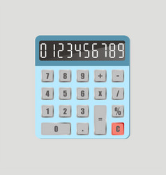 Calculator with numbers vector