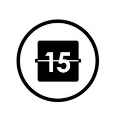 Calendar icon - iconic design vector
